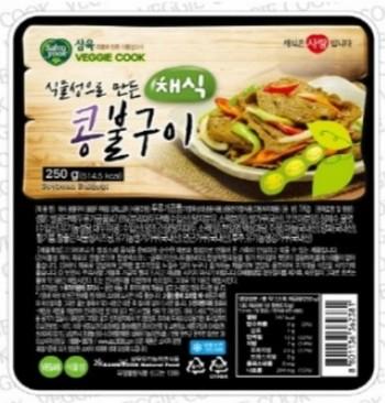삼육유기농자연식품 채식 콩불구이 250g 콩으로만든 고기