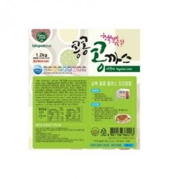삼육유기농자연식품 채식 콩콩 콩까스 1.2kg 콩으로만든 고기